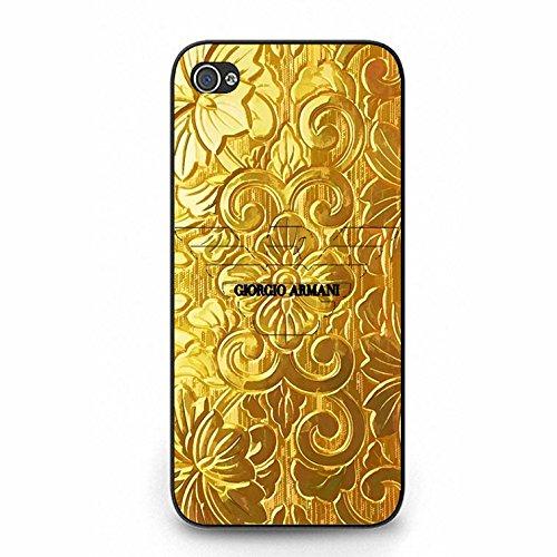 Luxurious Golden Armani Logo Phone Case Cover for Iphone 5/5s Giorgio Armani Fashionable