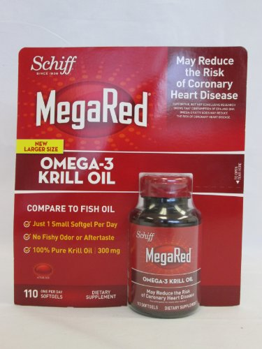 Schiff Megared Omega-3 Krill Oil, Dietary Supplement: 110 Softgels - Sms24