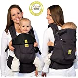 LILLEbaby Complete Original 6-in-1 Baby Carrier - Charcoal/Black