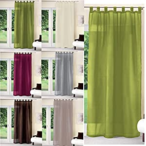 schlaufenschal uni schlaufen gardine deko vorhang schal fenster schlaufen gr n. Black Bedroom Furniture Sets. Home Design Ideas