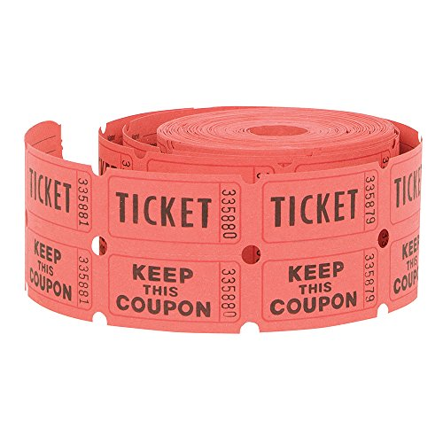 Double Roll of Raffle Tickets, 500ct (Colors May Vary) (Double Raffle Tickets Blue compare prices)