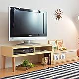 タンスのゲン テレビ台 伸縮 コーナー テレビボード クリア ナチュラル 13100002 NA