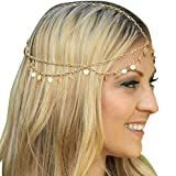 Lowpricenice(TM) Bling Retro Fashion Chain Jewelry Chain Headband Head shiny Piece Hair Band Tassels by lowpricenice