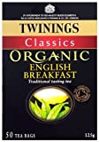 Twinings Organic English Breakfast 50 Teabags (Pack of 4, Total 200 Teabags)