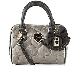 Betsey Johnson Be Mine Mini Crossbody Satchel Bag - Pewter