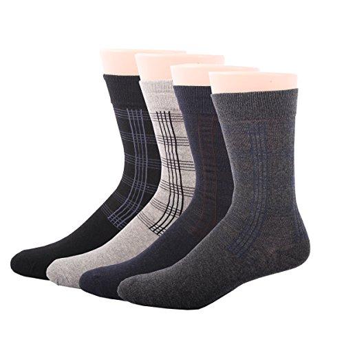 RioRiva Calcetines cortos para hombre vestir/casual o trabajar 100% algodón en caja (Hombre EU 39-45/US 6-11, BSK11-4 pares)