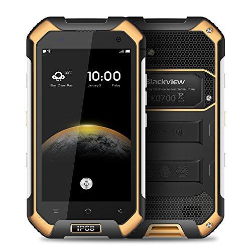 Blackview BV6000s スマートフォン アウトドア IP68 防水 防塵、耐衝撃4G FDD-LTE 4.7インチ HD MT6735A クアッドコア1.3GHz 2GB+16GB 8.0MP カメラ Android 6.0 OS 4200mAh デュアルSIMカード NFCコンパスGPS+ GLONAS
