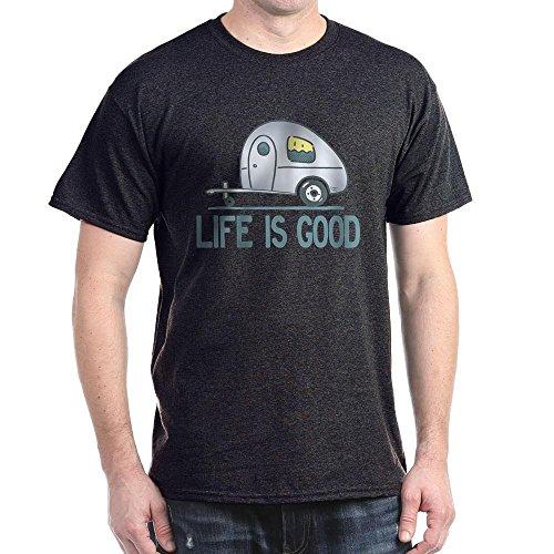 CafePress - Life Is Good Camper T-Shirt - Dark T-Shirt (Men Camper Life Is Good compare prices)