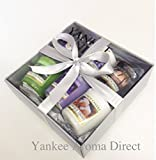 Yankee Candle - 6 Votive Sampler Branded Silver Gift Box (Incl. 1x Midsummer's Night, 1x Midnight Jasmine, 1x Black Coconut, 1x Under the palms, 1x Midnight Oasis, 1 x Fireside Treats, Silver Tissue and Silver Ribbon.