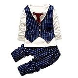 [Babyanzug Junge] Gentleman 2 pcs Langarmshirt mit Weste +...