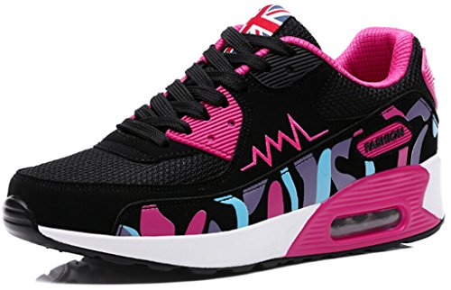 DADAWEN Women's Breathable Mesh Air Max Sneakers Running Shoe Rose Red US Size 6 (Tenis Air Max compare prices)
