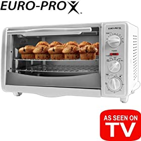 Euro-Pro TO156 Extra-Large-Capacity 6-Slice Toaster Oven