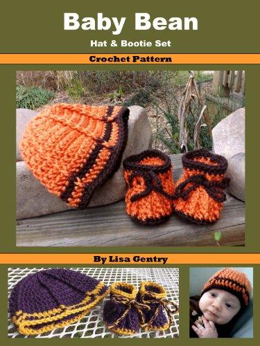Baby Bean - Hat & Bootie Set - Crochet Pattern PDF