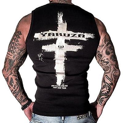 Yakuza Herren Muscle-Shirt Tank Top klassisch Round Neck UHB 655 schwarz