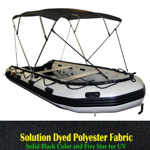 Portable 4 Bow Bimini Top Fit 12 to 16ft Inflatable