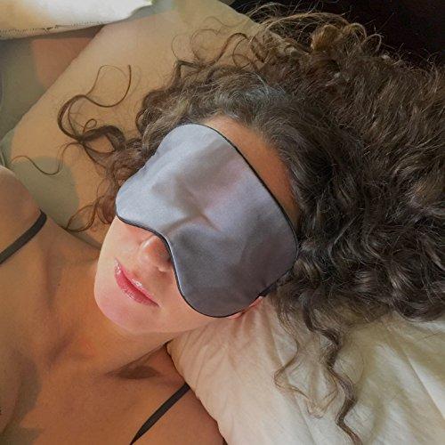 Sleep Mask. Anti-Aging (Ultra-soft Silk feel) Copper Fabric Sleeping Mask by Sleep Fountain. Get an Eye Mask Facial while sleeping. Luxury Design, C