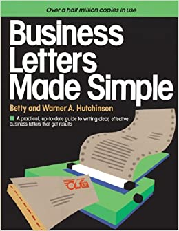 Business Letters Made Simple Betty Hutchinson Warner A