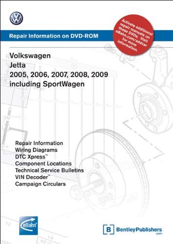 Volkswagen Jetta 2005, 2006, 2007, 2008, 2009: Repair Manual on DVD-ROM (Windows 2000/XP)