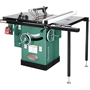 Grizzly g1023rlw cabinet left tilting table saw 10 inch for 10 cabinet table saw