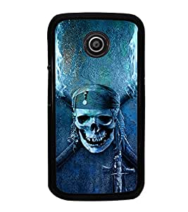 iFasho Scary Faces Pirate Back Case Cover for Moto E