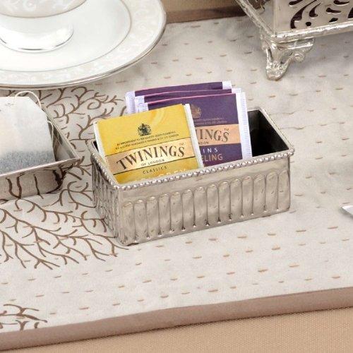 Elvy Tea bag holder in Nickel