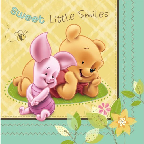 Baby Pooh And Friends Baby Shower Luncheon Dinner Napkins New Design front-1057955
