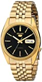 Seiko Men's SNXZ16 Automatic Gold Tone Bracelet Watch