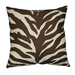Product Image Zebra Square Pillow - Brown/Tan (18x18&quot;)