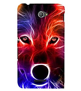 Animation of wolf 3D Hard Polycarbonate Designer Back Case Cover for Sony Xperia E4 Dual