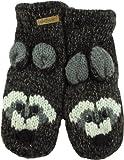 DeLux Brown Raccoon Wool Animal Mittens
