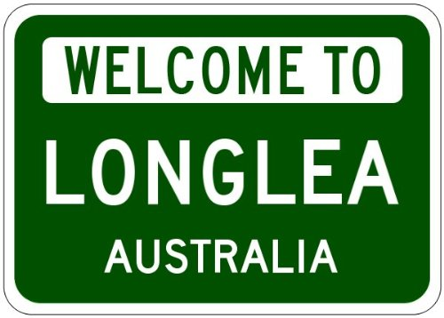 LONGLEA, AUSTRALIA – Australian Welcome to Aluminum City Sign – 10 x 14 Inches