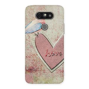 Special Bird On Heart Print Back Case Cover for LG G5