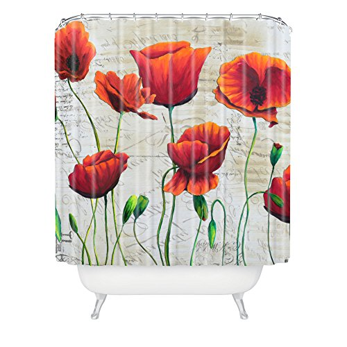 Deny Designs Madart Inc Soft Wind Blowing Shower Curtain front-401794