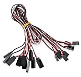 500mm 3-Pin Servo Connection Extension Cables for R/C Toys (10-Pack)-500mm: 10-Pack - (Premium Quality)