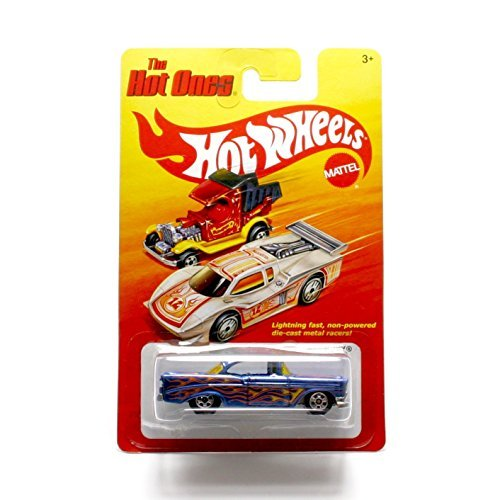 '56 CHEVY (BLUE) * The Hot Ones * 2011 Release of the 80's Classic Series - 1:64 Scale Throw Back HOT WHEELS Die-Cast Vehicle - 1
