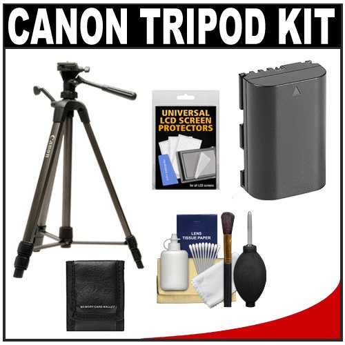 "Canon 62"" Deluxe Photo/Video 300 Tripod With 3-Way Panhead & Case + Lp-E6 Battery + Carrying Case + Kit For Eos 5D Mark Ii, 60D & 7D Digital Slr Cameras"