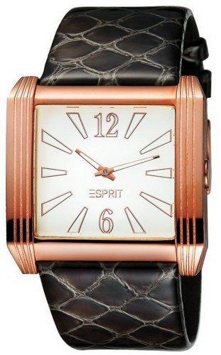 Esprit 4418379 - Reloj analógico de mujer de cuarzo con correa de piel negra