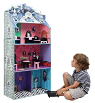 Hot Sale Teamson Kids Monster Mansion Wooden Doll House with Furniture