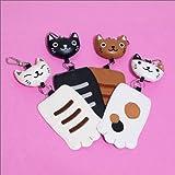 のあぷらす のびのび猫の手パスケース 三毛猫