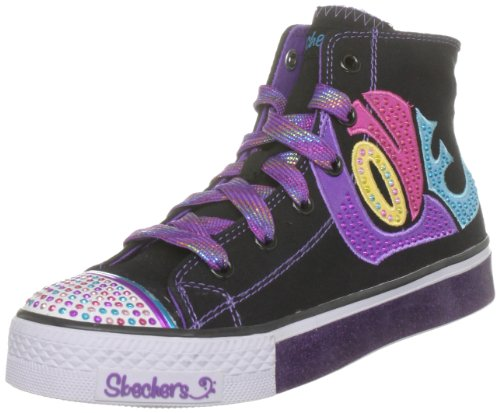 SKECHERS Kids' Dazzlement Pre/Grd (Black/Purple 11.0 M)