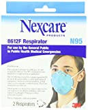 3M Particulate Respirator 8612F Mask N95 FDA Approved, 2-Count (Pack of 2)
