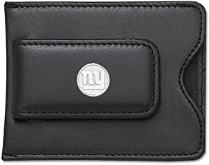 NFL Logo Black Leather Money Clip Credit Card Holder NFL Team: New York Giants by Logo Art