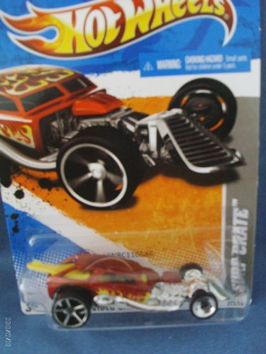Hot Wheels 2011 HW VIDEO GAME HEROES 3/22 - 225/244 - Surf Crate - RED WITH FLAMES. 1:64 scale - 1