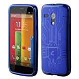 Motorola Moto G Cruzerlite Bugdroid Circuit Blue Case For Motorola Moto G -Blue