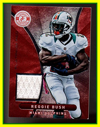 2012 Totally Certified Red Materials GAME USED JERSEY #50 Reggie Bush Miami Dolphins USC Trojans Serial #175/299 (Reggie Bush Miami Dolphins compare prices)