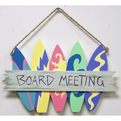 Wall Art Surfboard Shaped Board Meeting Sign Plaque: Kitchen & Dining