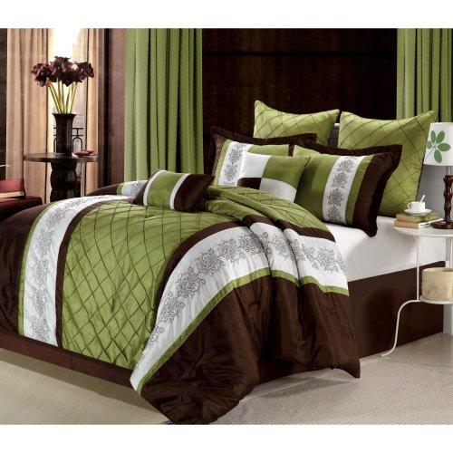 Chic Home Livingston Sage King - 12 Pcs Comforter Set front-1037330