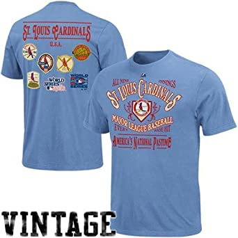 St. Louis Cardinals Blue Dazzling Performance T-shirt by Majestic