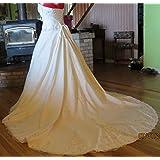 Oleg Cassini Size 6 Ivory Strapless Natural Waist Wedding Dress