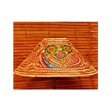 """The India Craft House Transluscent Leather Hand Painted Table Lamp Shades - 6"""" - B0114GC9SO"""